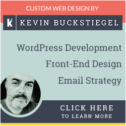 Kevin Buckstiegel Website Design